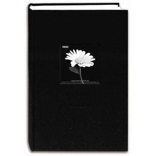 Pioneer Fabric Frame Cover Deep Black Bi-directional Memo Albums (Pack of 2)
