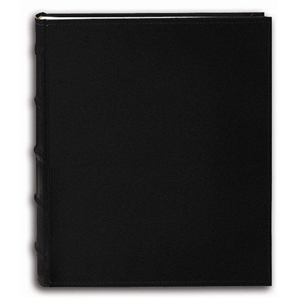 Pioneer Sewn European Bonded Black Leather Bookbound Bi-directional Memo Albums (Set of 2)