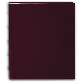 Pioneer Sewn European Bonded Burgundy Leather Bookbound Bi-directional Memo Albums (Set of 2)