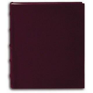 Pioneer Sewn European Bonded Burgundy Leather Bookbound Bi-directional Memo Albums (Set of 2)