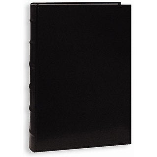 Pioneer Sewn European Bonded Black Leather Bookbound Bi-directional Memo Albums (Pack of 2)