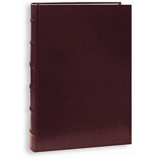 Pioneer Sewn European Bonded Burgundy Leather Bookbound Bi-directional Memo Albums (Pack of 2)