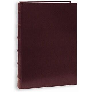Pioneer Sewn European Bonded Burgundy Leather Bookbound Bi-directional Memo Albums (Pack of 2)