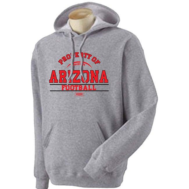 'Property of Arizona Football' Grey Hoodie Sweater