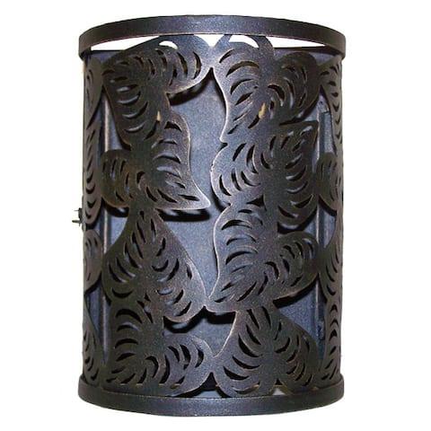 Handmade Cut Leaf Iron Lantern (India)