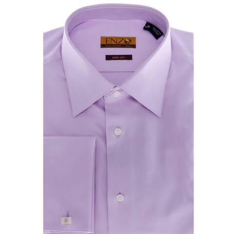 Men's Lavender French Cuff Twill Dress Shirt