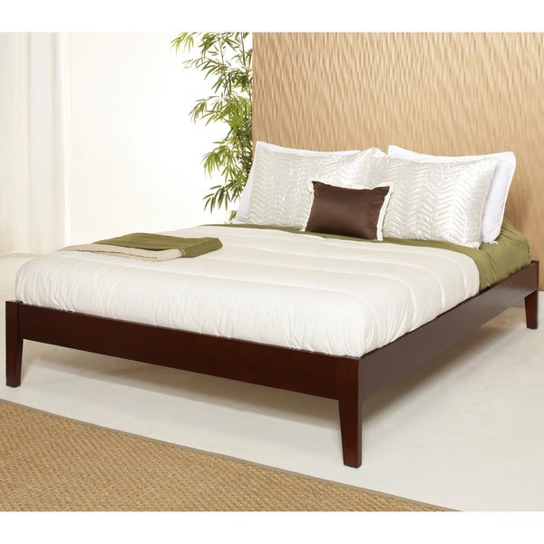 Tapered-Leg Full-Size Mahogany Platform Bed