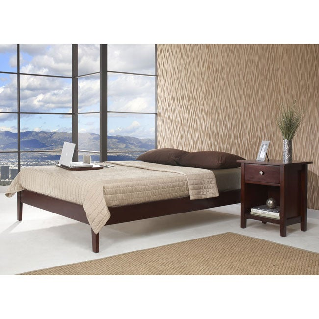 tapered leg kingsize platform bed