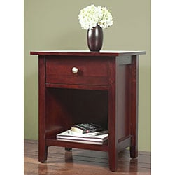 Contemporary Shaker 1-drawer Nightstand - Thumbnail 2