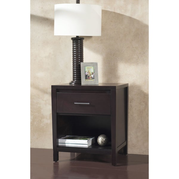 Tapered Leg 1-drawer Nightstand with Bar Pull