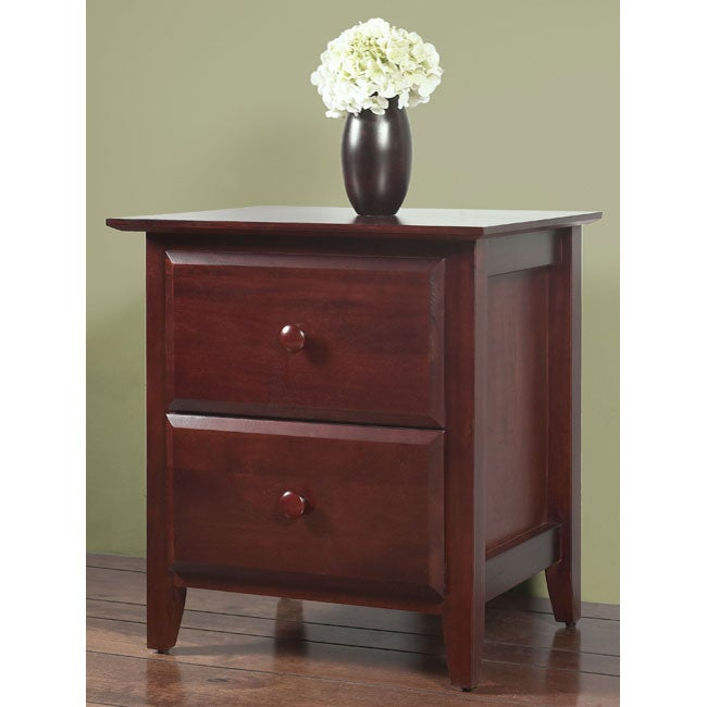 Contemporary Shaker 2-drawer Nightstand - Thumbnail 0
