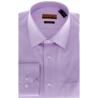 Men's Lavender Barrel-cuffed Twill Dress Shirt