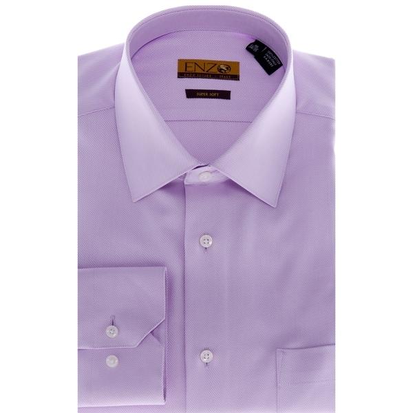 men 39 s lavender barrel cuffed twill dress shirt free