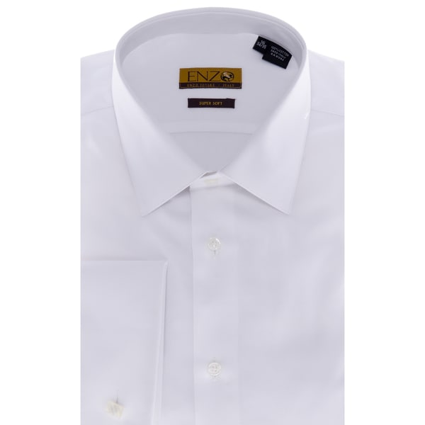 Men's White Twill French-cuffed Shirt
