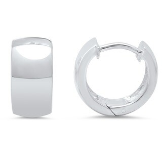 Sterling Silver 12mm x 7mm Hinged Hoop Earrings