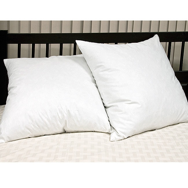 European Square 26 x 26 Inch Feather Pillows (Set of 2) - Thumbnail 0