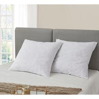 European Square 26 x 26 Inch Feather Pillows (Set of 2)