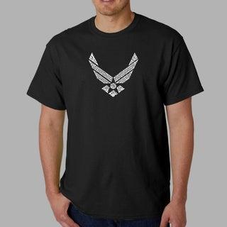 Los Angeles Pop Art Men's U.S. Air Force Lyrics T-shirt