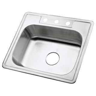 Kingston Brass Stainless Steel Single-bowl 3-hole Kitchen Sink