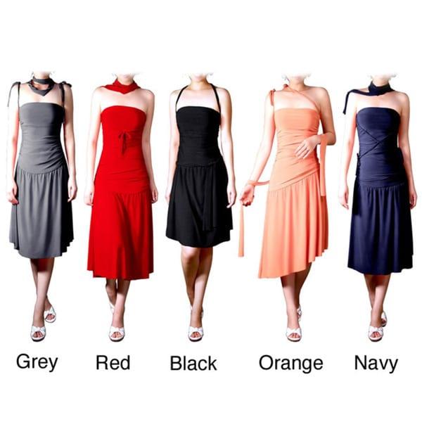 Evanese Women's Adjustable Jersey Tube Dress