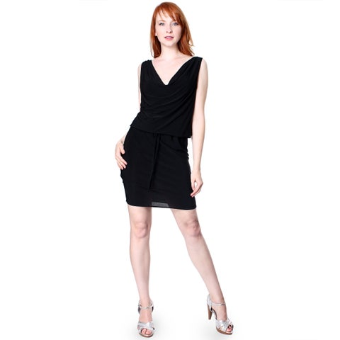 Evanese Women's Sexy Cowl-neck Dress