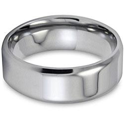 West Coast Jewelry Men's Titanium Beveled-edge Polished Ring (8-mm) - Thumbnail 2