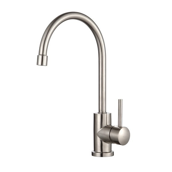 KRAUS Single-Handle Solid Stainless Steel Kitchen Bar Faucet