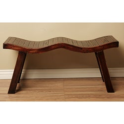 Mahogany Wood Semoran Wavy Bench (Indonesia)