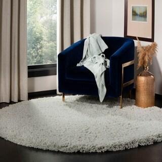 safavieh classic plush handmade super dense light blue shag rug 4u0027 round