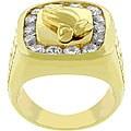 Kate Bissett 14k Gold Bonded CZ Praying Hands Ring