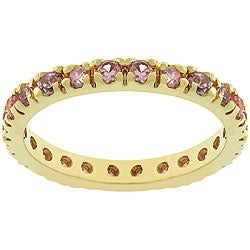 Kate Bissett Rose Gold Rhodium Bonded Stackable CZ Eternity Ring