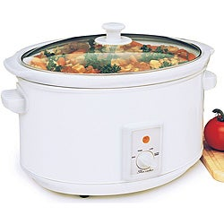 Oval Electric 8.5-quart Stoneware Slow Cooker