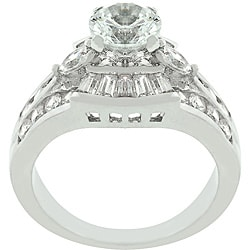 Kate Bissett White Gold Cubic Zirconia Centennial Ring