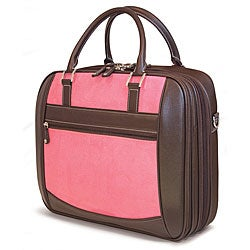"Mobile Edge - ScanFast Checkpoint Friendly Element 15.6"" Briefcase - Pink Suede"