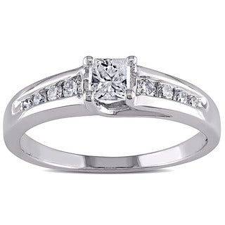 Miadora 14k Gold 1/2ct TDW IGL Certified Engagement Ring (H-I, SI2)