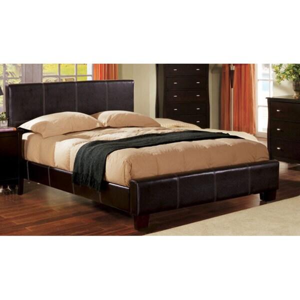 Shop Furniture Of America Italian Villa Common Bicast Leather Queen