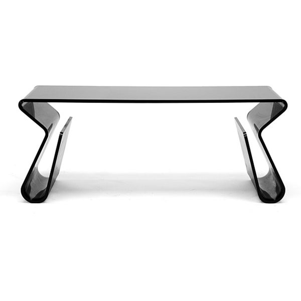 adair black acrylic coffee table - free shipping today - overstock