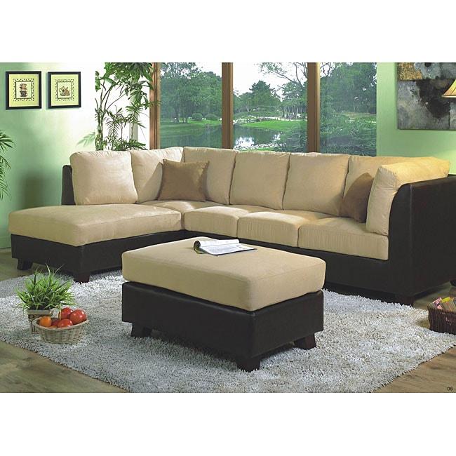 Swell Furniture Of America Helena Amada Sectional Sofa Loveseat Ottoman Set Cjindustries Chair Design For Home Cjindustriesco