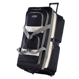 Olympia SRD 33-inch 8-pocket Rolling Upright Duffel Bag (Option: Black)