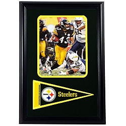 Pittsburgh Steelers Troy Polamalu 12x18-inch Framed Print