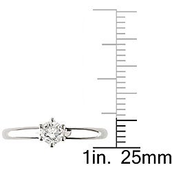 14k Gold 1/3ct TDW IGL Certified Diamond Ring (G-H, I1-I2)