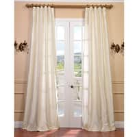 Exclusive Fabrics Signature Pearl White Textured Silk Curtain