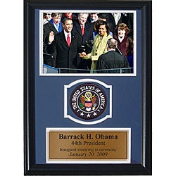 Presidential Inauguration 12x18 Framed Print with Patch