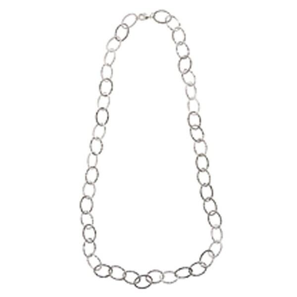 NEXTE Jewelry Silvertone 36-inch Adjustable Oval Link Necklace