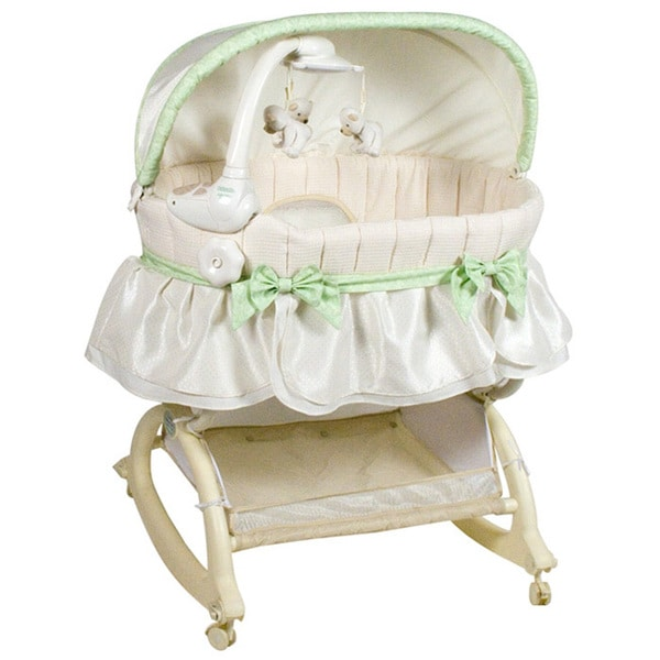 Shop Kolcraft Easy Reach Rocking Bassinet With Light Vibes Mobile Free Shipping Today