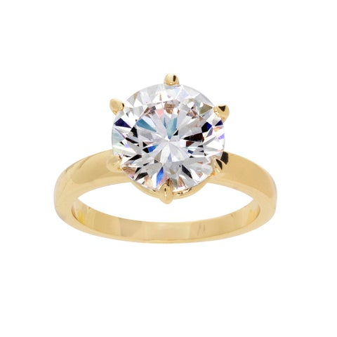 NEXTE Jewelry 14k Gold Overlay Martini CZ Solitaire Ring