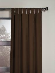 Chocolate Microsuede Tab Top 120 Inch Curtain Panel Free