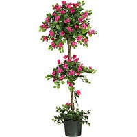 Nearly Natural Bougainvillea Silk 5-foot Topiary Tree