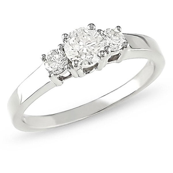 14k White Gold 3/4ct TDW Diamond Engagement Ring (H-I, I1-I2)