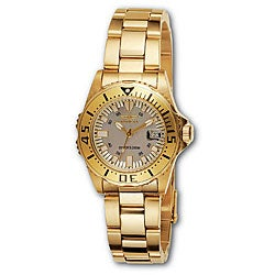 Invicta Women's 2963 Pro Diver 18k Goldplated Watch